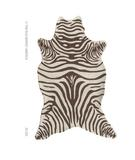 RugStudio presents The Rug Market America Resort Zebra Brown Shaped 25255 Brown/cream Hand-Hooked Area Rug